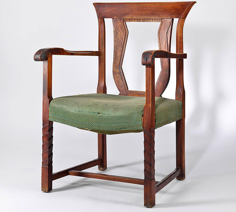 restaurování fotelu do látek Backhausen