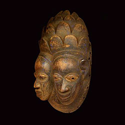 Maska - Afrika - celodřevěná - rituální