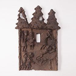 Africký bronzový reliéf - Benin